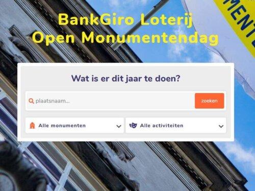 12 september: Unieke Open Monumentendag